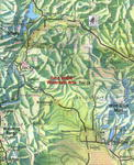 Close Up Wyoming Map